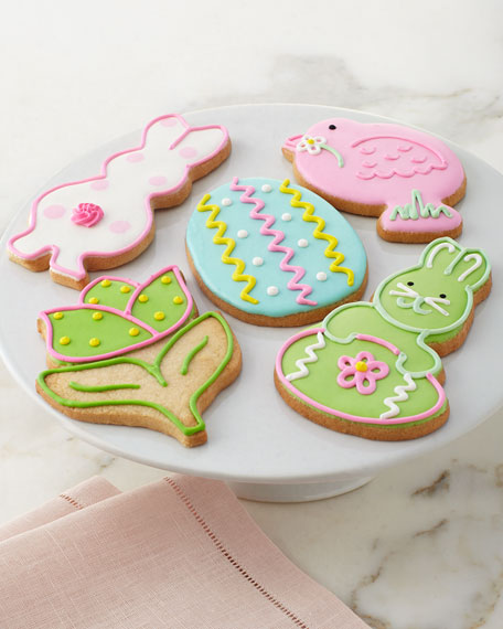 Five Decorated Easter Cookies