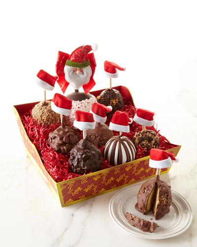 Santa and His Helpers Apple Basket