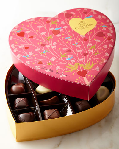 Godiva 14-Piece Valentine's Paper Heart