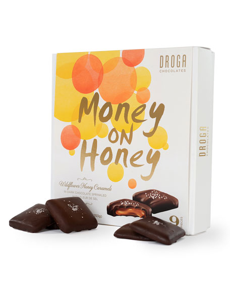 Droga Chocolates 9-Piece Money on the Honey Caramels