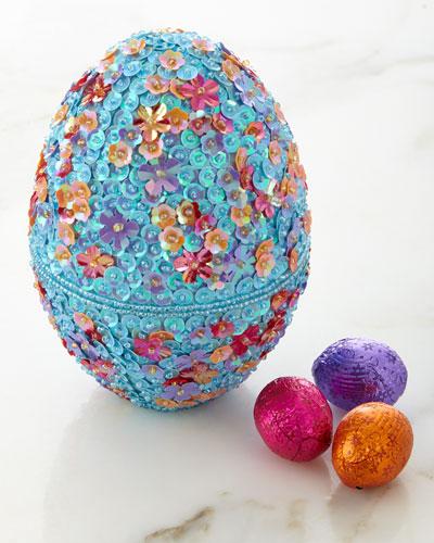Beaded Egg with Chocolates