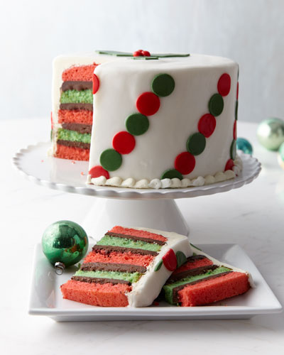 Polka-Dot Peppermint Cake