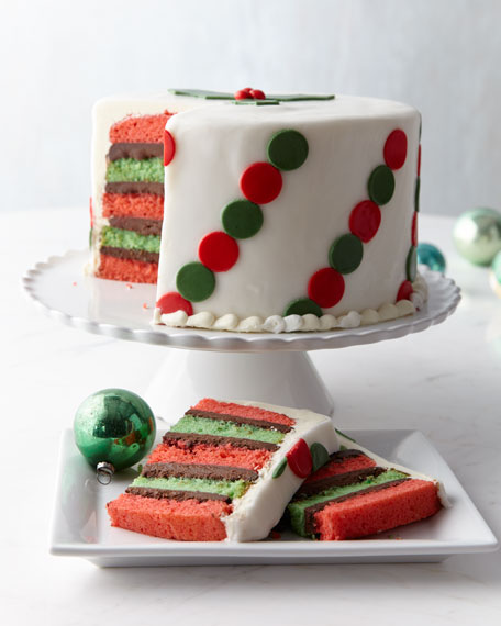 Polka-Dot Peppermint Cake, For 10-12 People