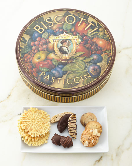 Dicamillo Baking Co Medallion Roma Biscotti Tin