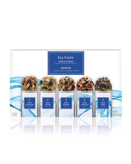Tea Forte Bleu Single Steep Tea Sampler Box
