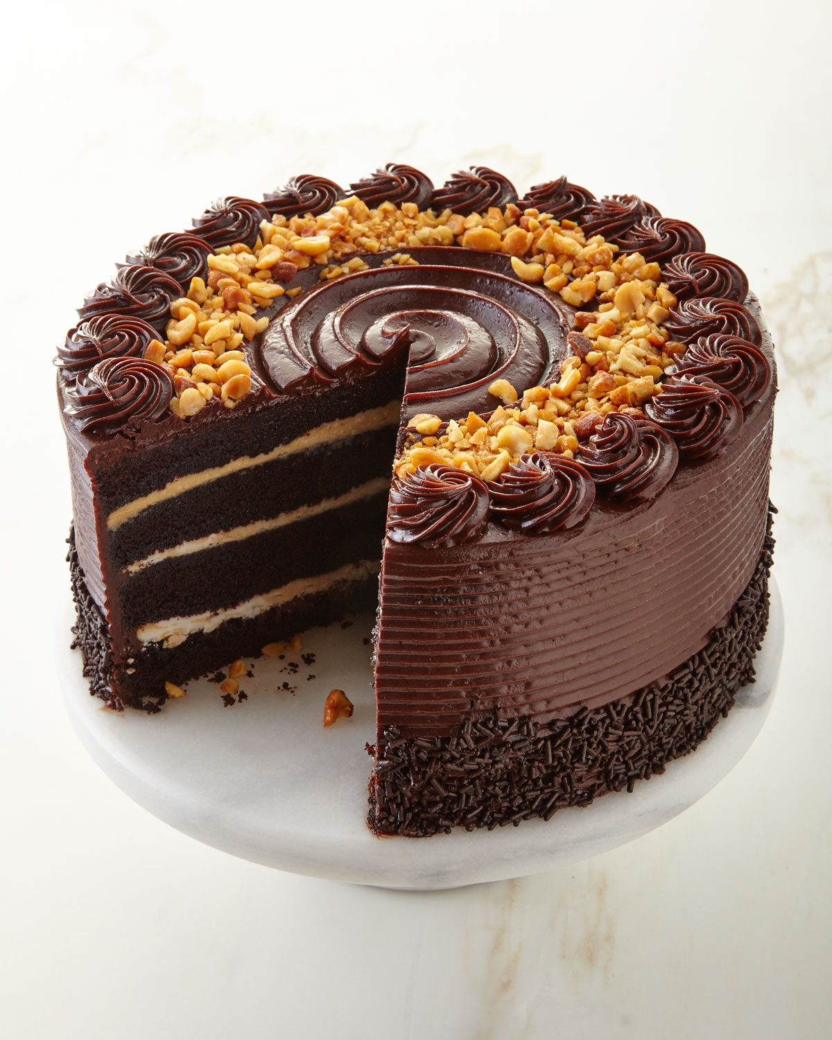 Frosted Art Bakery Chocolate Peanut Butter Cake