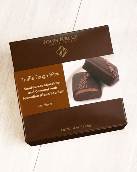 Image 2 of 2: John Kelly Chocolates 4-Piece Semi-Sweet Chocolate Truffle Fudge Bites