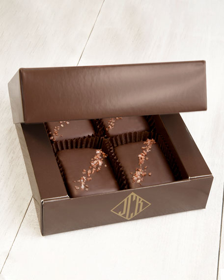 Image 1 of 2: John Kelly Chocolates 4-Piece Semi-Sweet Chocolate Truffle Fudge Bites
