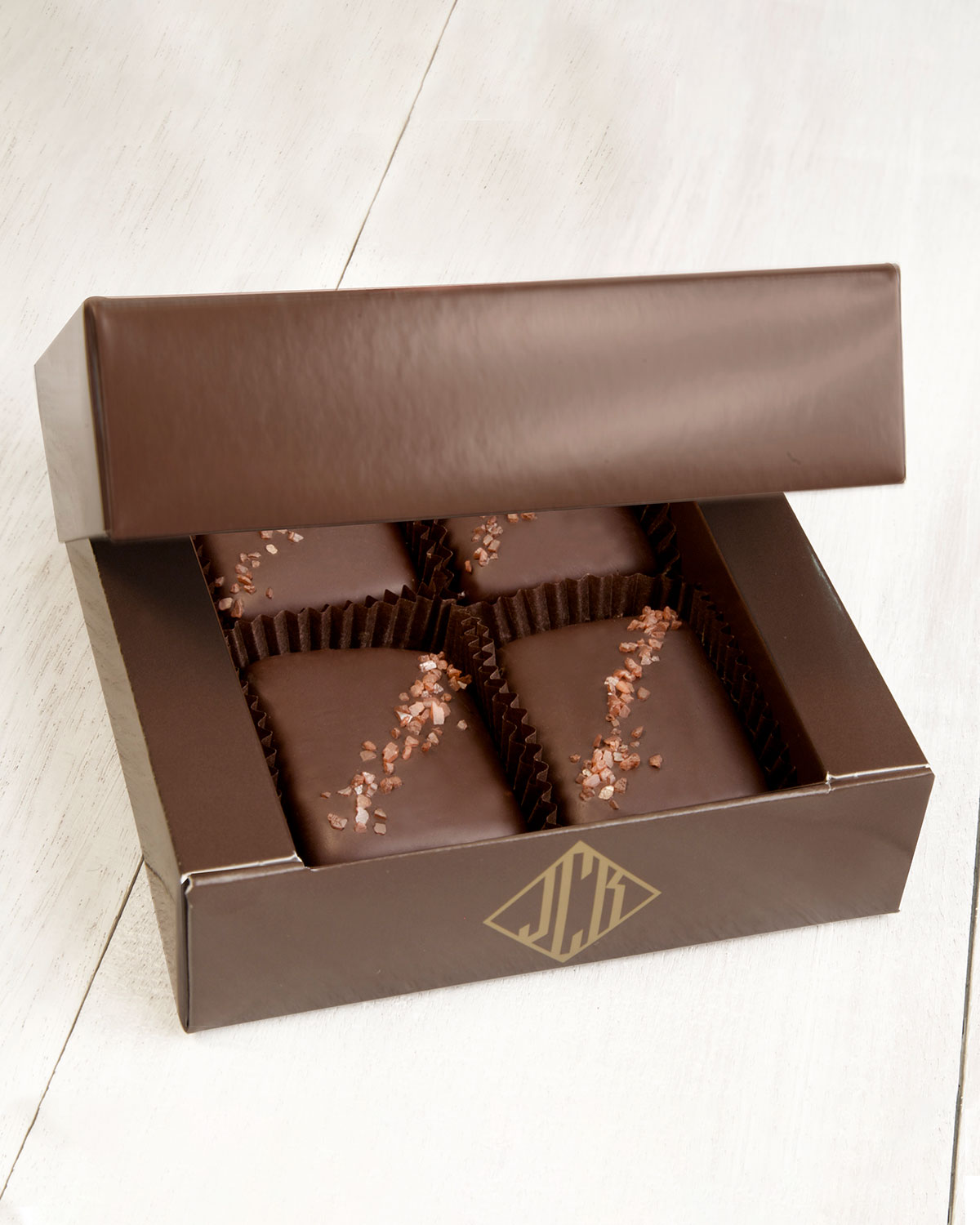 John Kelly Chocolates 4-Piece Semi-Sweet Chocolate Truffle Fudge Bites