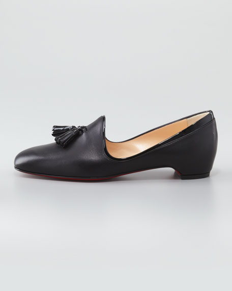 Lady Moc Leather Tassel Loafer, Black
