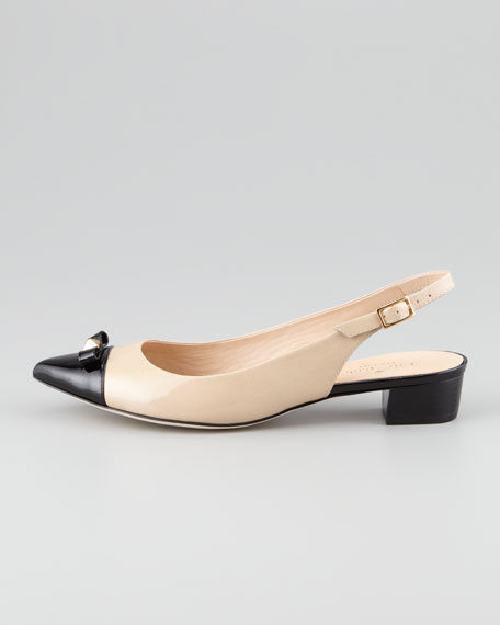 aiden cap-toe slingback pump