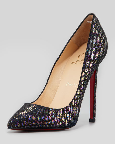 Pigalle Glitter Red Sole Pump, Blue