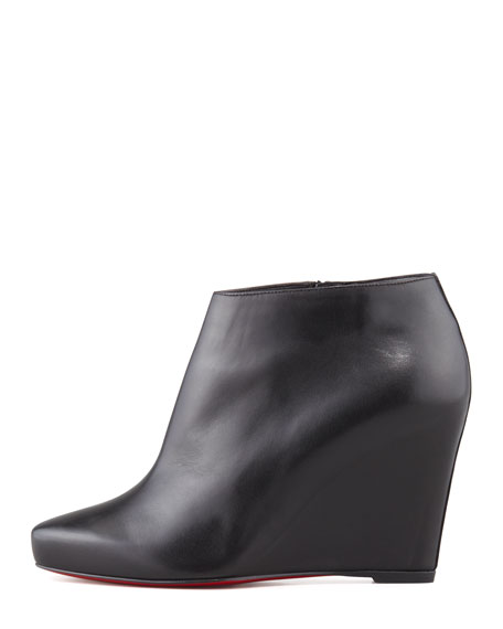 Melisa Leather Wedge Bootie
