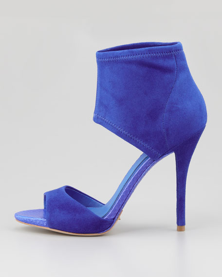 Correns Suede Ankle-Band Sandal, Cobalt