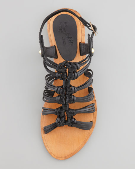 Ramblin Ways Gladiator Sandal, Black