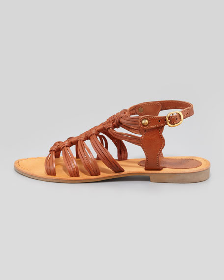 Ramblin Ways Gladiator Sandal, Cognac