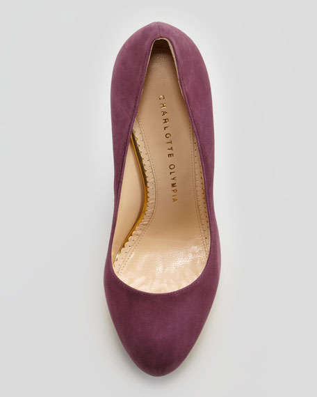Dolly Island Platform Pump, Purple