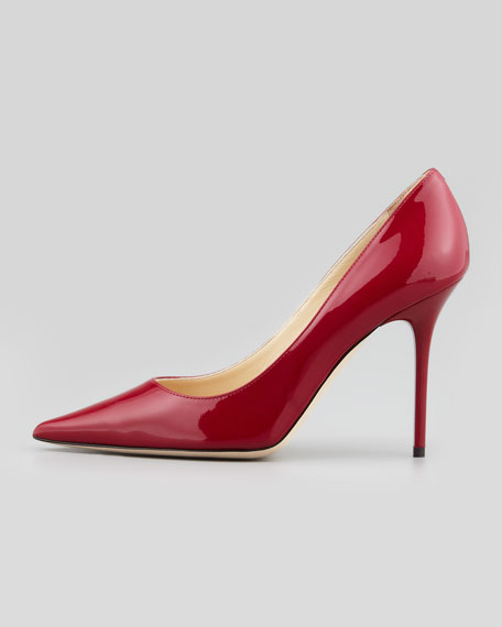 Abel Patent Pointy Pump, Red