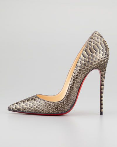 best replica shoes online - Artesur ? christian louboutin python pumps Brown metallic pointed toes