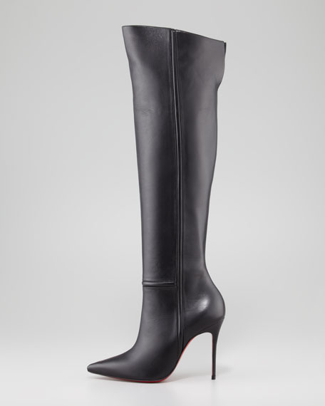 Armurabotta Leather Over-the-Knee Red Sole Boot