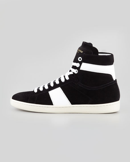 Bicolor Suede High-Top Sneaker