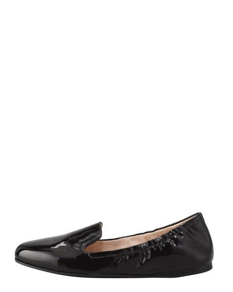 Patent Scrunch Loafer Flat