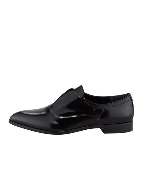 Spazzolato Oxford Slip-On, Black