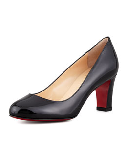Christian Louboutin Mistica Low-Heel Red Sole Pump, Black