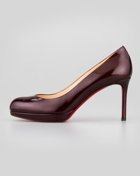 New Simple Patent Pump, Burgundy