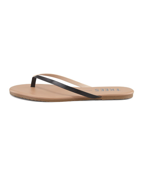 Mixed Palette Thong Sandal, Black/Tan
