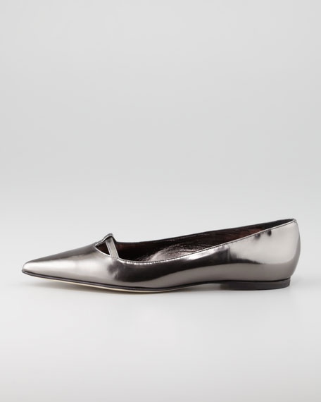 Kavanga T-Bar Pointy-Toe Flat, Anthracite