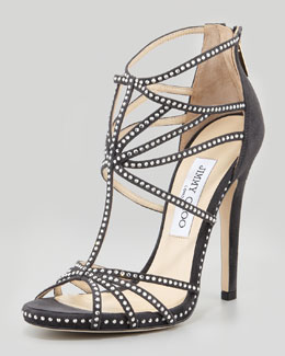 Jimmy Choo Vendetta Strappy Crystal Sandal