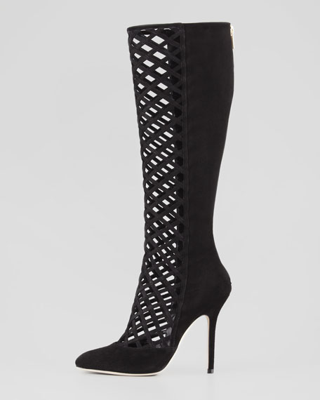 Delta Cutout Knee Boot