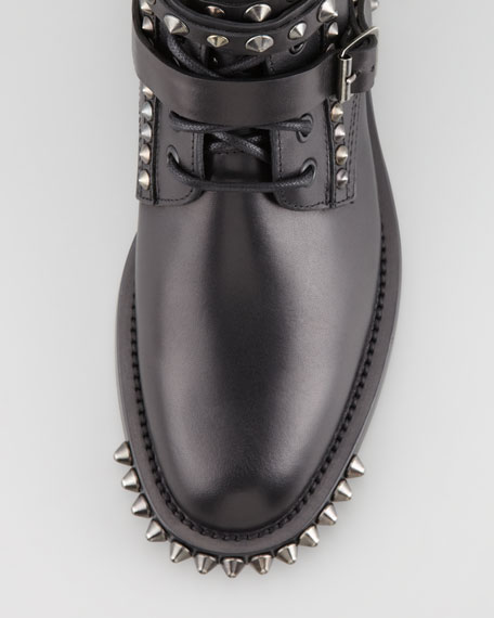 Chain-Detail Ankle Boot