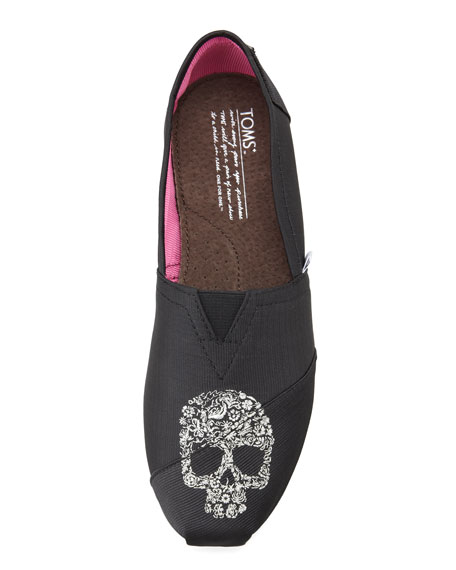 Beaumont Skull Grosgrain Slip-On, Black