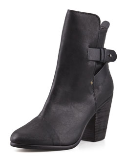 Rag & Bone Kinsey Leather Ankle Boot, Black