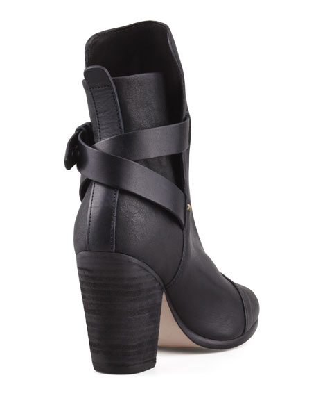 Kinsey Leather Ankle Boot, Black