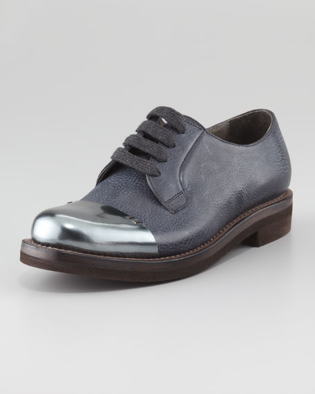 Brunello Cucinelli Cap-Toe Platform Oxfords with mastercard online buy cheap countdown package best wholesale DGgCqEM