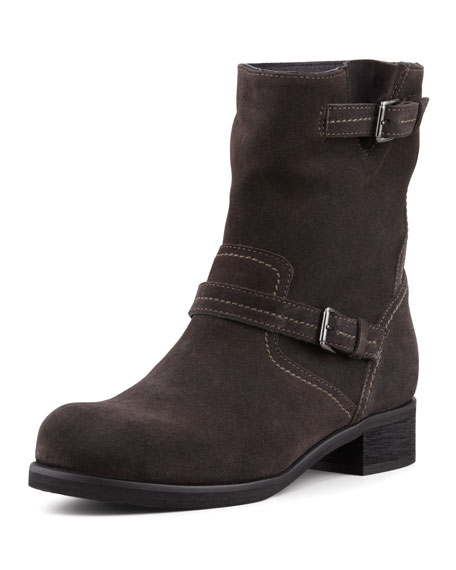 Courtney Mid-Shaft Suede Boot, Mocha