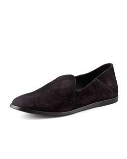 Pedro Garcia Yoshi Suede Slip-On Loafer, Black
