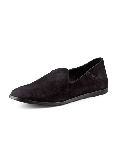 Pedro Garcia Yoshi Suede Slip-On Loafer, Black