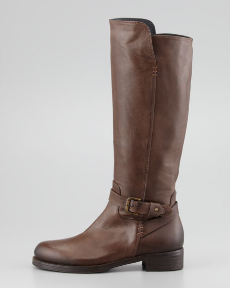Aracelli Leather Knee Boot, Brown