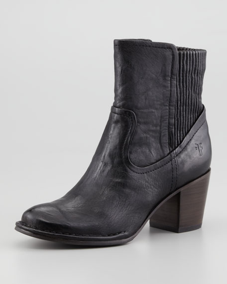 Lucinda Leather Bootie, Black
