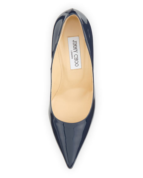 Abel Patent Point-Toe Pump, Navy