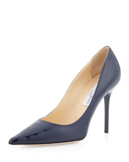 Jimmy Choo Abel Patent Point-Toe Pump, Navy