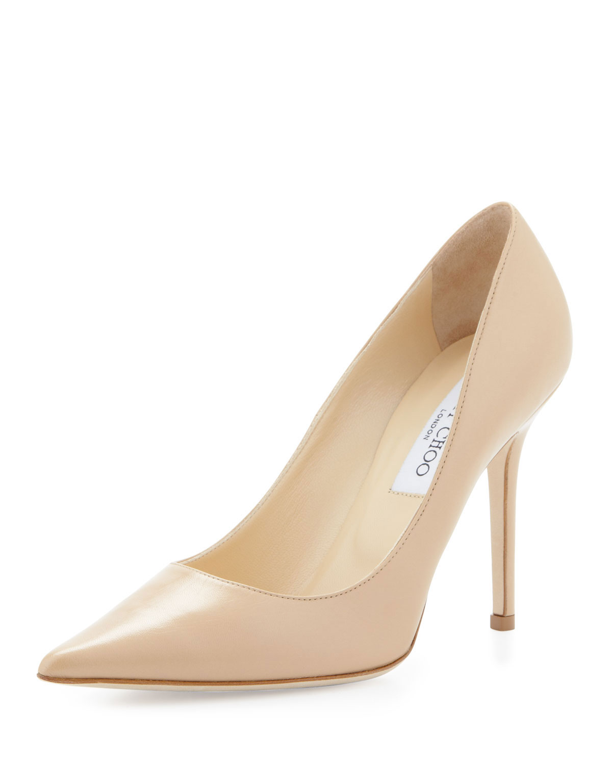 52699833abc Jimmy Choo Abel Leather Pointy-Toe Pump
