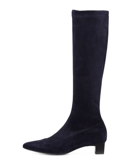 Ghislene Stretch Suede Knee Boot