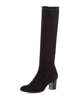 Robert Clergerie Prisca Stretch Suede Knee Boot