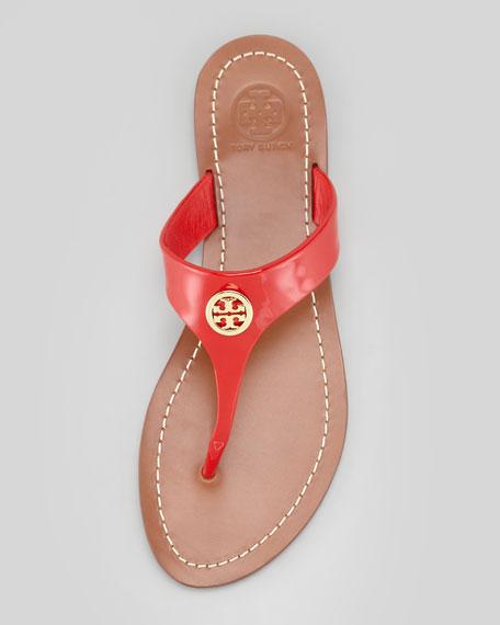 Cameron Patent Logo Thong Sandal, Red