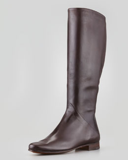 Gravati Tall Leather Boot, Medium Brown